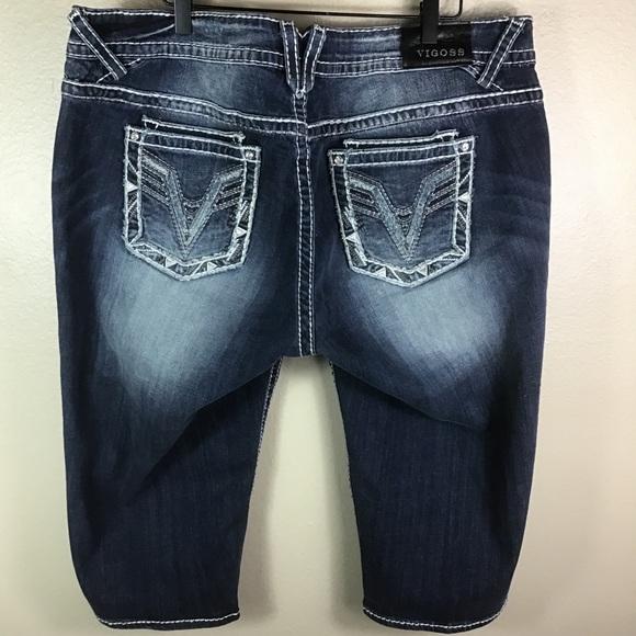Vigoss Pants - 🆕 ViGoss For Torrid Denim Capri Shorts